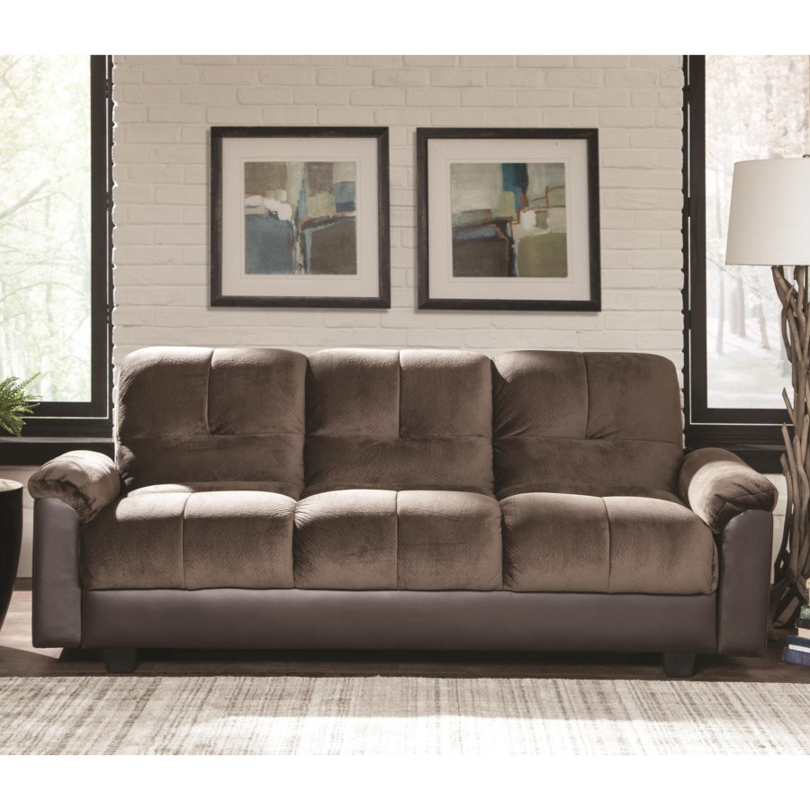 Sofa Beds and Futons Two-Tone Sofa Bed with Storage Compartment