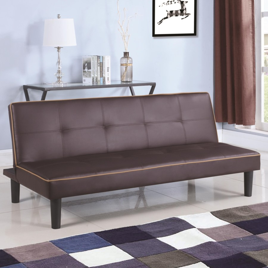 Excellent Sofa Beds And Futons Leatherette Sofa Bed Piping Caraccident5 Cool Chair Designs And Ideas Caraccident5Info