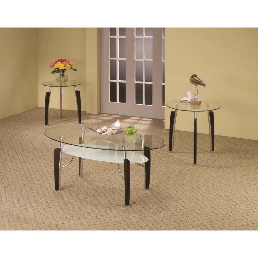 Coffee Table 3 Piece Sets.Occasional Table Sets 3 Piece Contemporary Round Coffee End Table Set